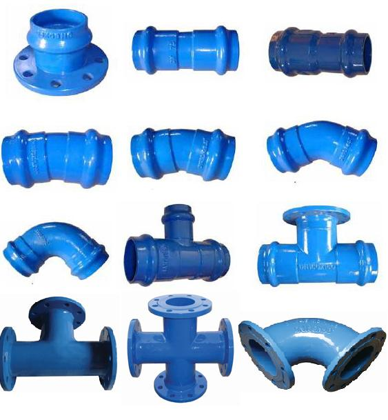 Ductile iron pipe fittings for pvc llypiping valve